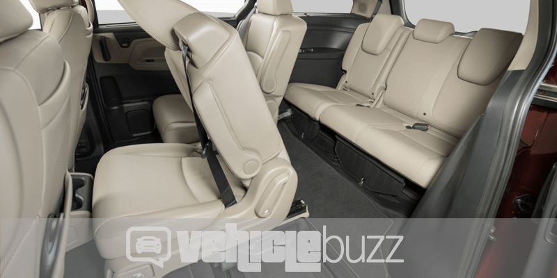 photograph of mid and back row seats for 2018 Honda Odyssey