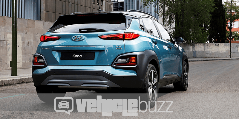 Photo from rear of 2018 Hyundai Kona