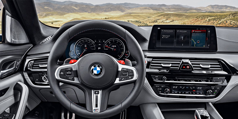interior of 2018 BMW M5