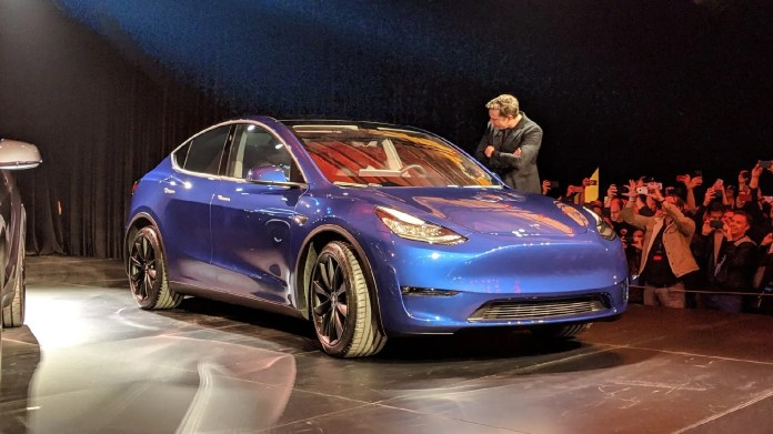Tesla Model Y Unveil Event Model Y Starting At 47 000 With Range Up To 300 Miles Vehiclesuggest