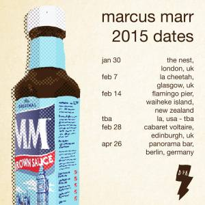 Marcus Marr has some tour dates, and a debut album, lined up. Photo Credit: Marcus Marr and DFA Records.