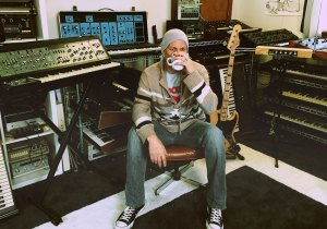 Dallas Campbell with his cadre of synths. Photo Credit: Telefuture.