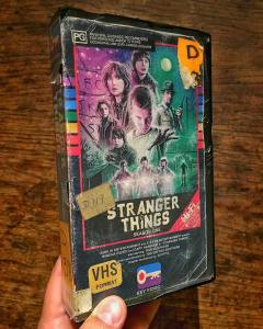 Steelberg's VHS cover for the popular Netflix show 'Stranger Things.'