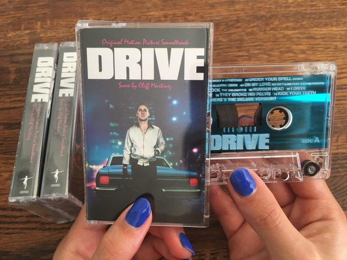 Electric Youth's Bronwyn Griffin holds the cassette release of the 'Drive' soundtrack. It was released recently as an Urban Outfitters exclusive. Photo credit: Electric Youth.
