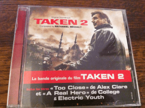 A photo of the CD for the 'Taken 2' soundtrack. Photo Credit: Bronwyn Griffin.
