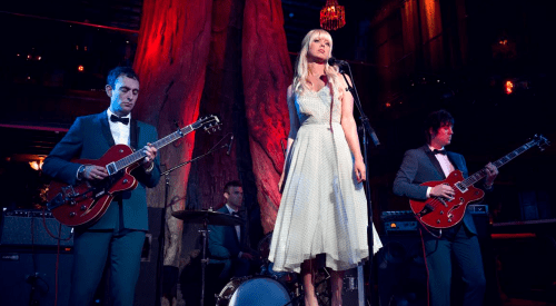 Chromatics performing at the May 20 premiere of the return of 'Twin Peaks.' Photo Credit: Italians Do It Better.