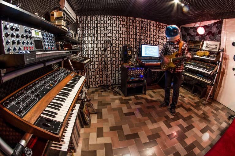 Shawn Ward in the studio.