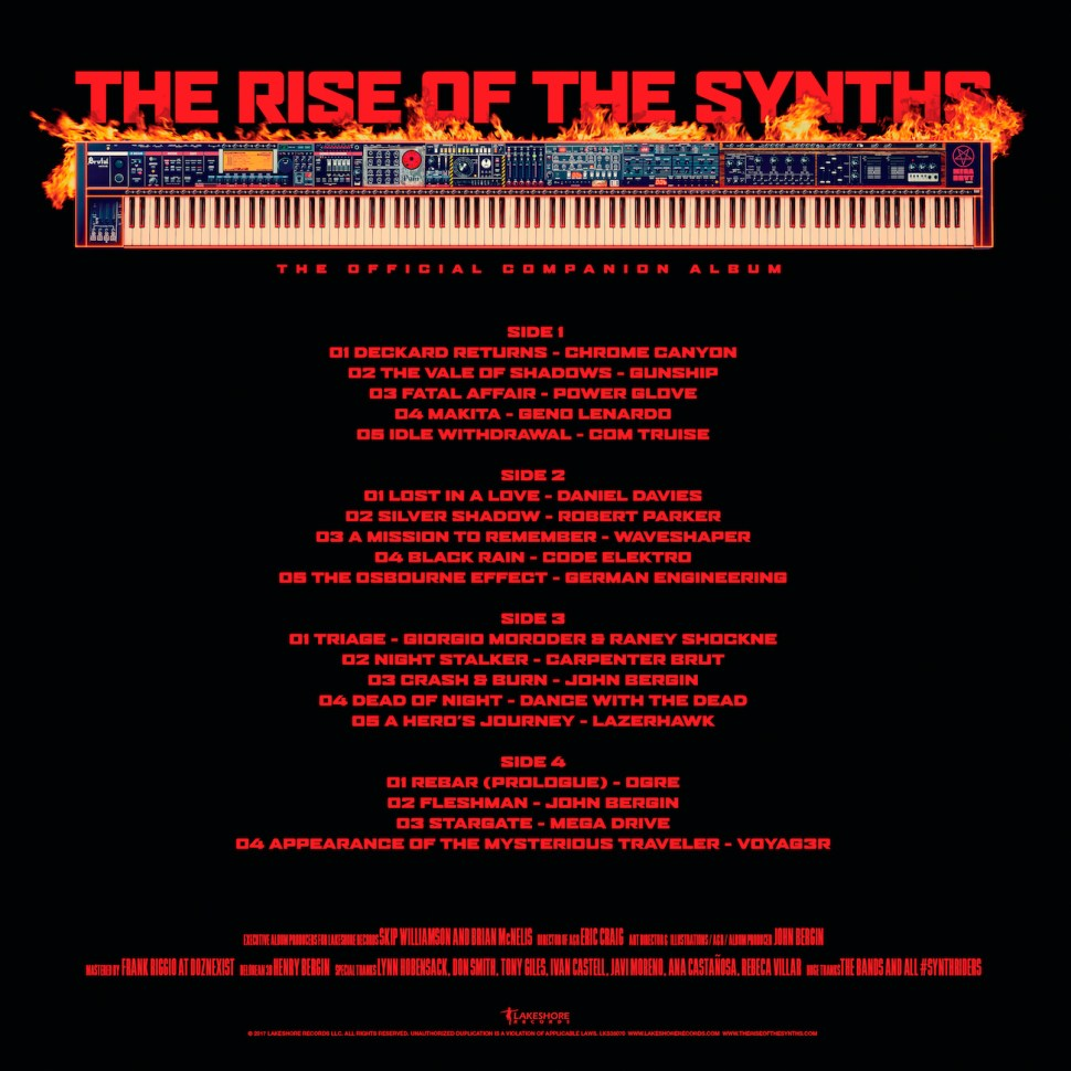 The Rise of the Synths vinyl back