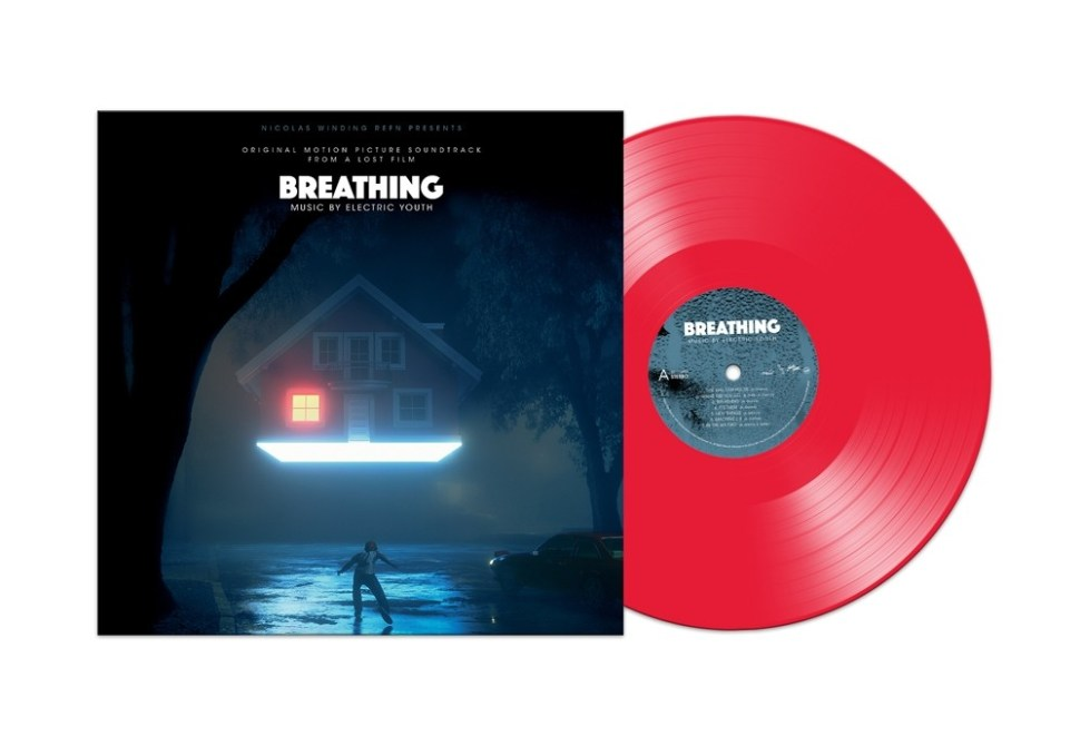 Cover art and vinyl record presentation for Electric Youth - Breathing. Courtesy of Milan Records.