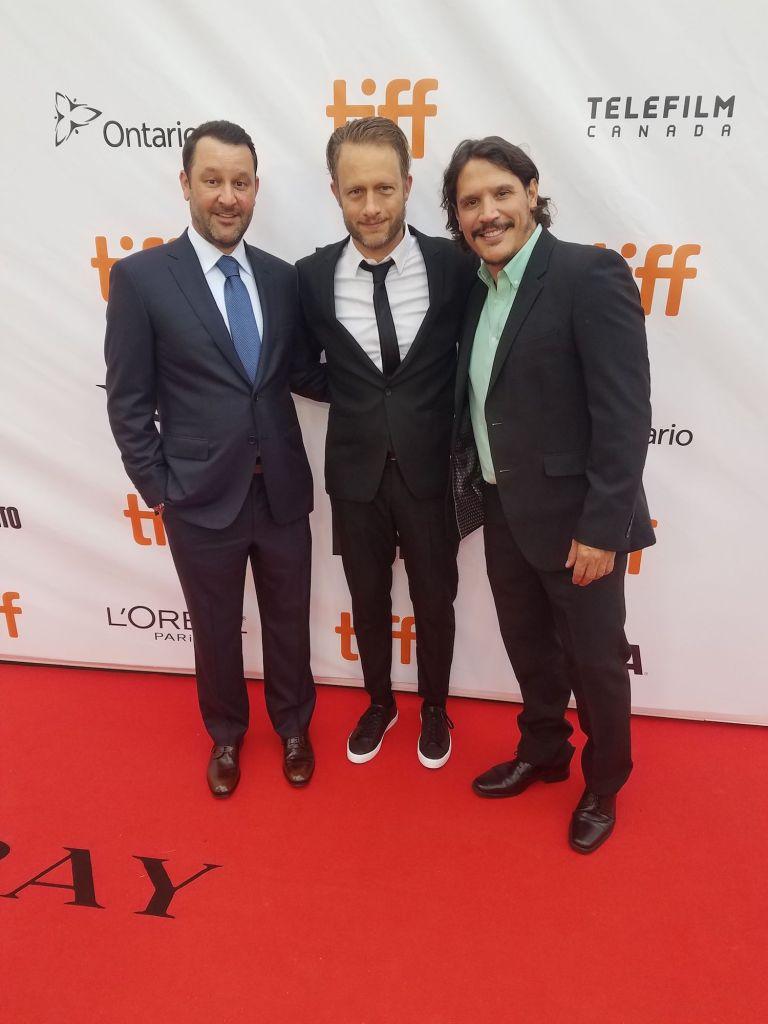 (From left) Dan Fogelman, Federico Jusid, and Sergio Peris Mencheta.