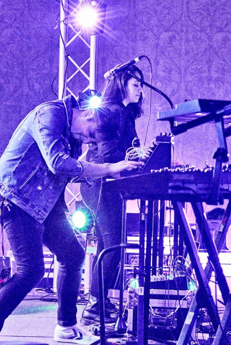 Future Holotape kill it on Sunday night at NEON RetroFest. Photo by Andrew B. White.