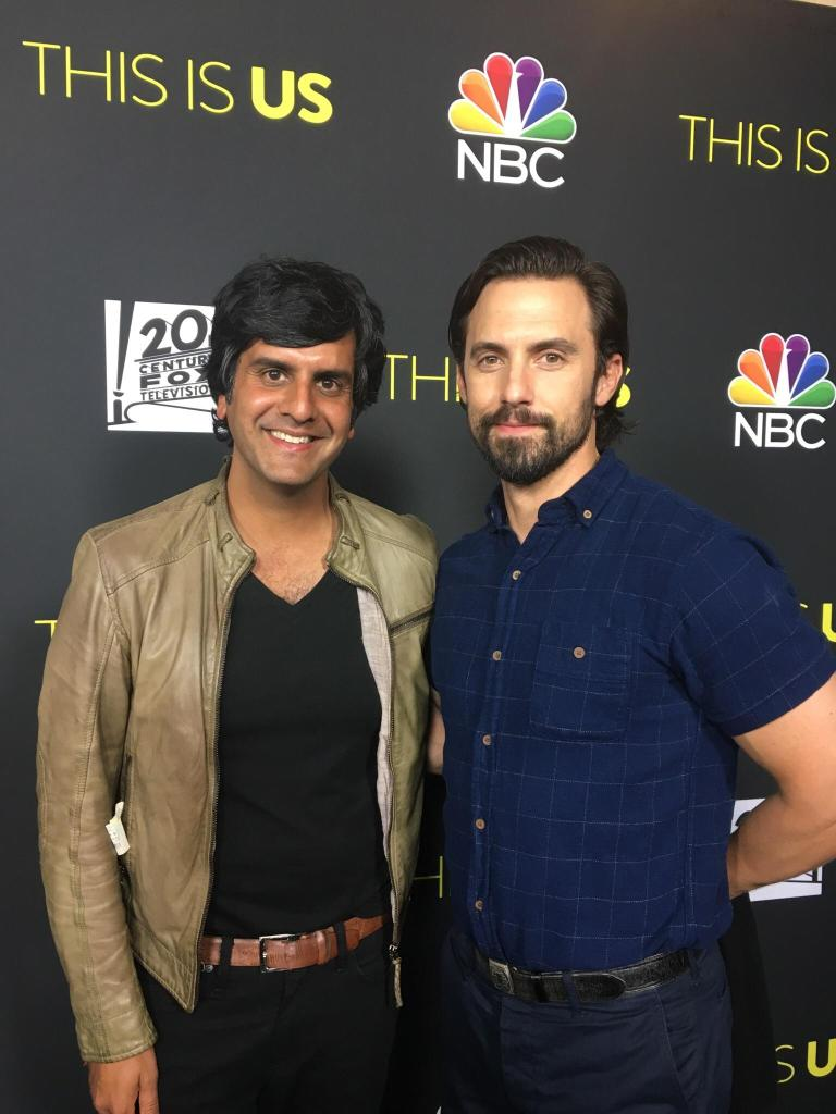 Composer Siddhartha Khosla and actor Milo Ventimiglia, who plays Jack Pearson. Photo by Impact24 PR.