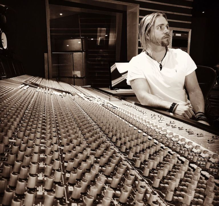 Dan Haigh of GUNSHIP works on some tracks at Metropolis Studios.