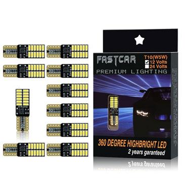 Blu, 2pc Luci Posizione Led 2 Pack LED T10 W5W 30-SMD 3014 Chipsets Lampadine LED Auto POMILE DC12V 2825 Luce di Posizione Luci Interni Lampada da Lettura Ps: No Trucks Illuminazione Targa