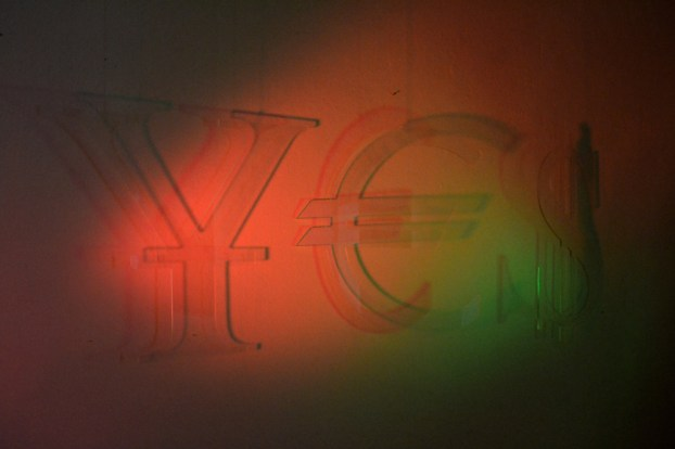 YES-2012-acrylic-glass-and-lights-60x180cm