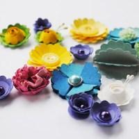 Kuusi tapaa tehdä kukkia Fiskarsin pipariympyräleikkurilla