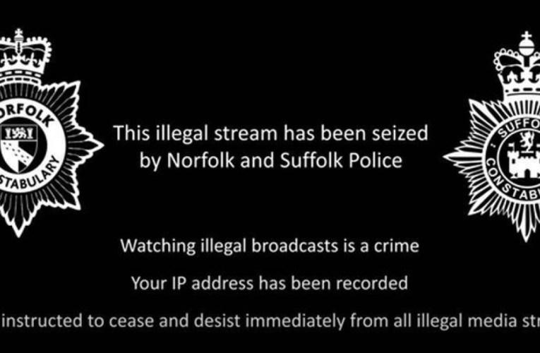 La police détourne un flux IPTV illégal pour diffuser un message antipiratage