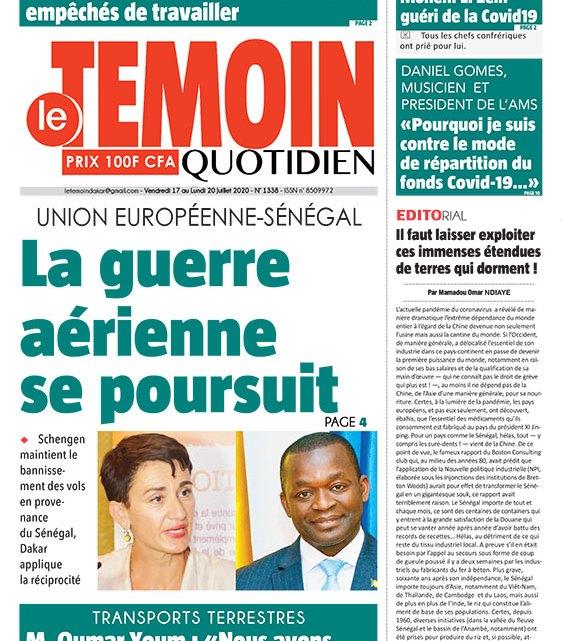 L'OEIL DU TEMOIN DE CE VENDREDI – seneplus.com