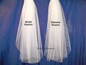 bridal illusion is matte sparkle illusion is shiny