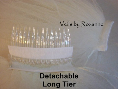 Detachable wedding veil