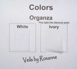 Colors for organza veils