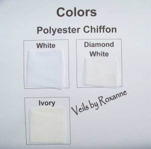 colors of polyester chiffon veils