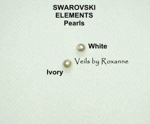 Swarovski pearls for pearl veils