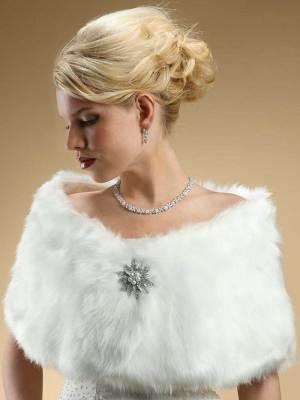 Faux fur shawl Mariell 116W