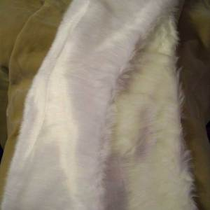 View of faux fur wedding wraps