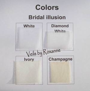 white, diamond white, ivory or champagne bridal illusion veils