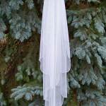 Waterfall English netting veils