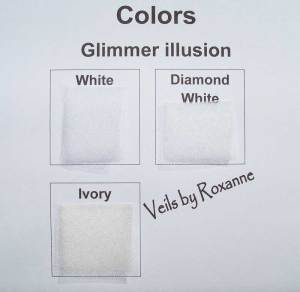 Sparkle Illusion in white, diamond white or ivory