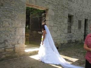 Cathedral organza veil