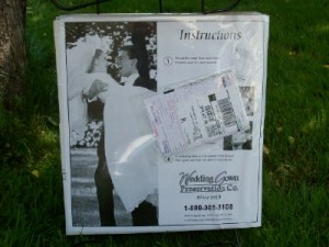 dress preservation kit in package