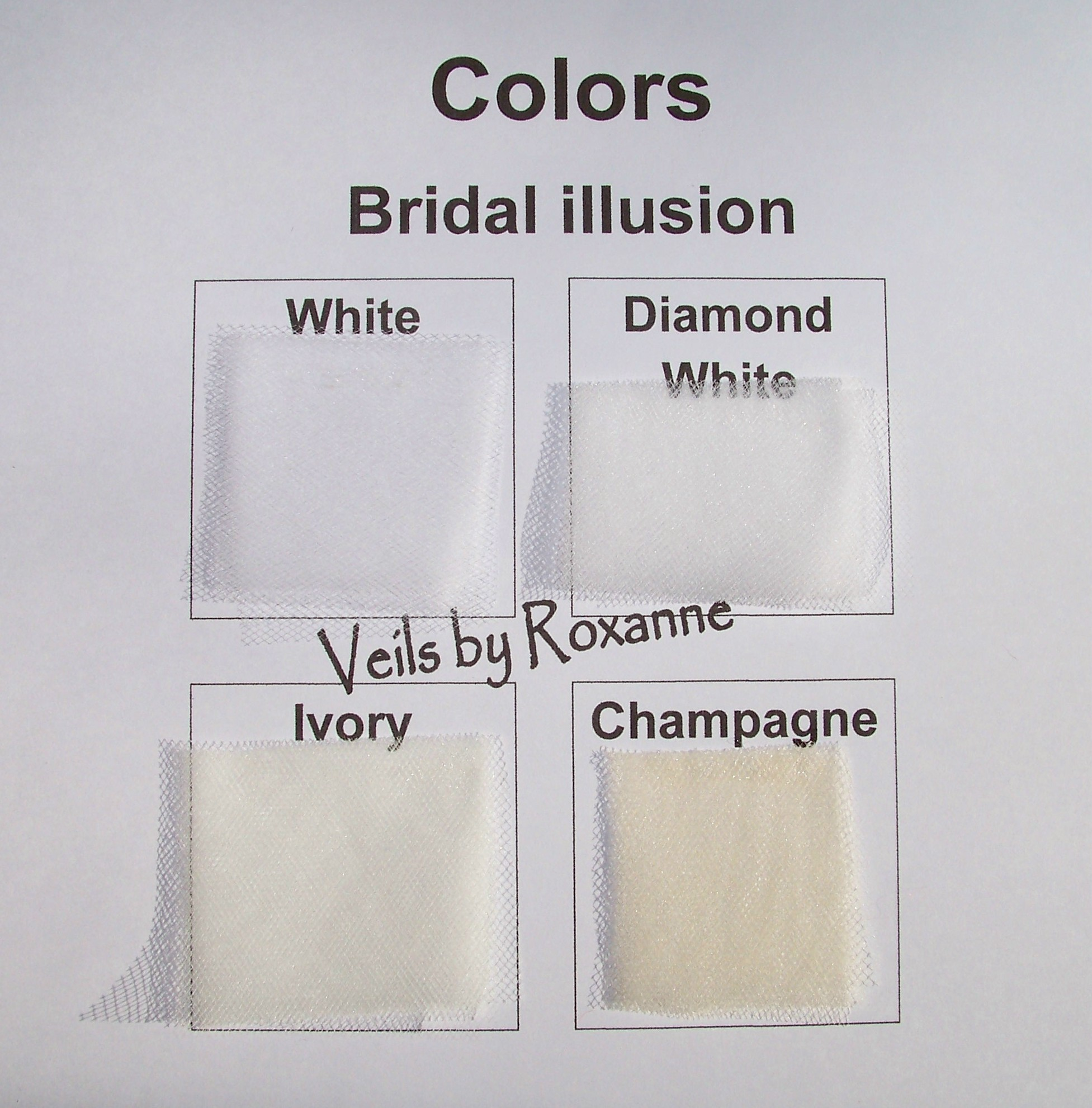 Pencil Edge Illusion 1 Tier Fingertip Veil Wedding Veil