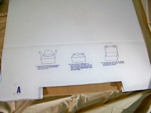 assembly instructions printed on box