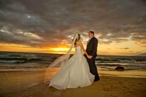 floor length bridal veil