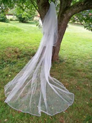 3 layer cathedarl blusher veil