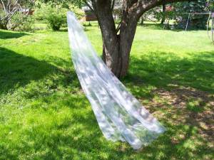 1 tier sparkle illusion veil