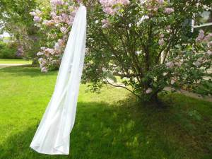 English net bridal veil