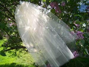 2 tier medium fullness short veil