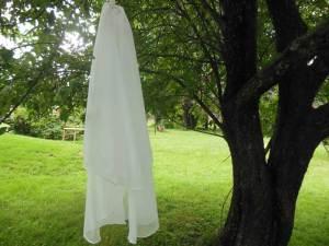 2 tier chiffon veil