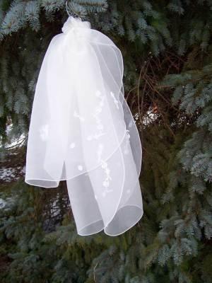 short organza veil