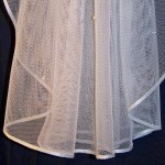 English net veil with narrow ribbon edge