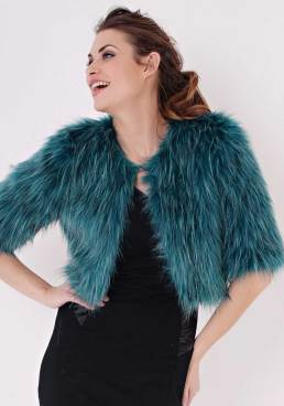 holiday party bolero teal fox