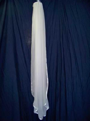 ribbon edge chiffon veil