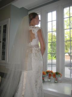 2 tier wedding veil full width