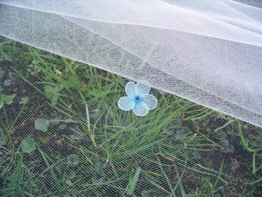 blue flower wedding embellishment