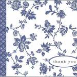 Thank you card from a bride for her veil