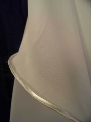 cord edge shown on chiffon veil